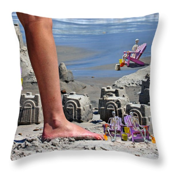 We're Moving In Throw Pillow by Betsy A  Cutler