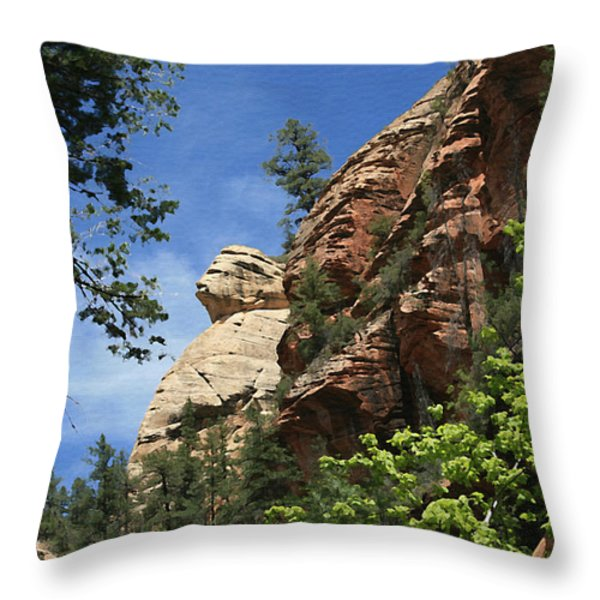 West Fork Trail Throw Pillow by Ellen Henneke