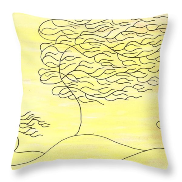 West Texas Wind Winter Throw Pillow by Susie WEBER