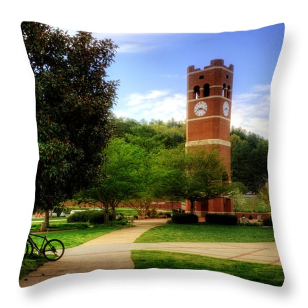 Western Carolina University Alumni Tower Throw Pillow by Greg and Chrystal Mimbs