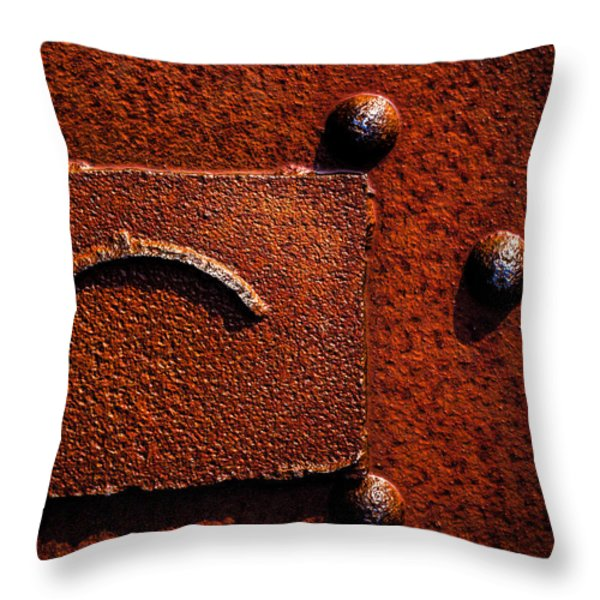Wet Rust Throw Pillow by Bob Orsillo