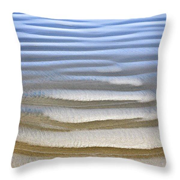 Wet sand texture on ocean shore Throw Pillow by Elena Elisseeva