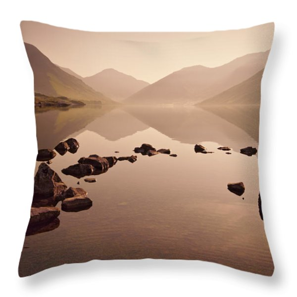 Wetlands Mornings Throw Pillow by Evelina Kremsdorf