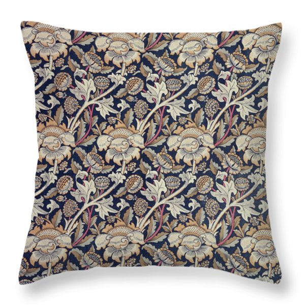 Wey design Throw Pillow by William Morris