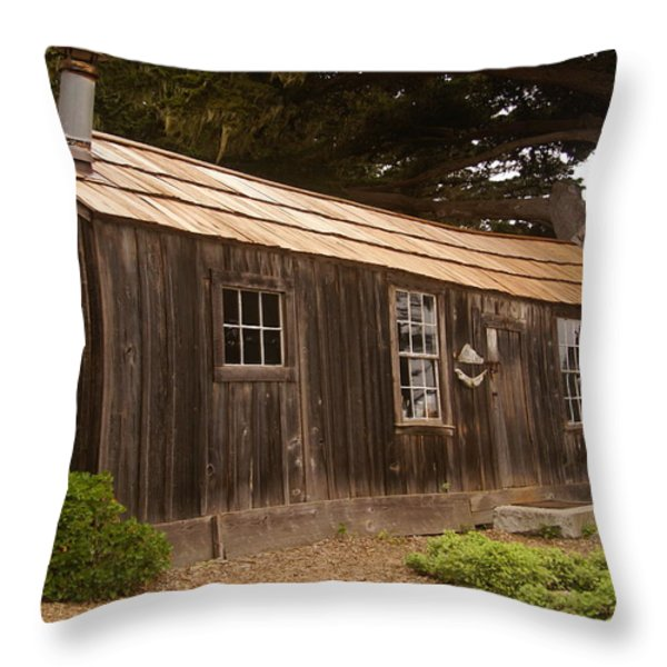 Whalers Cabin Throw Pillow by Barbara Snyder