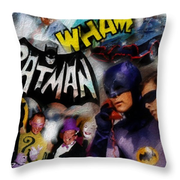 WHAM Throw Pillow by Russell Pierce
