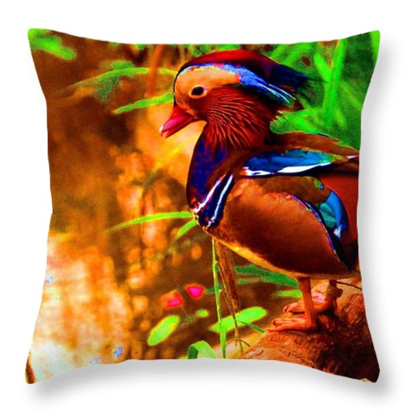 What a strange duck Throw Pillow by Hilde Widerberg