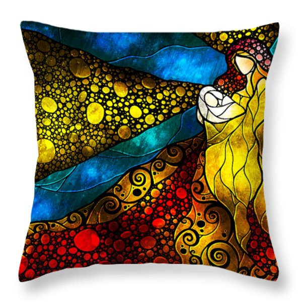 What Child Is This Throw Pillow by Mandie Manzano