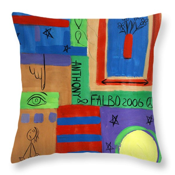 What Have You Done Throw Pillow by Anthony Falbo