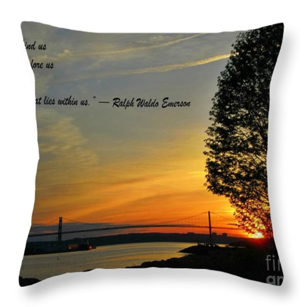 What Lies Within Throw Pillow by Crystal Loppie