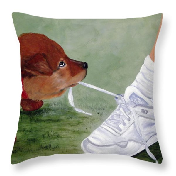 What Ya Gonna Do Throw Pillow by Kenny Francis