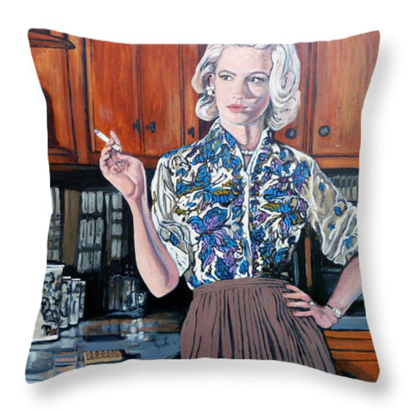 What's For Dinner? Throw Pillow by Tom Roderick