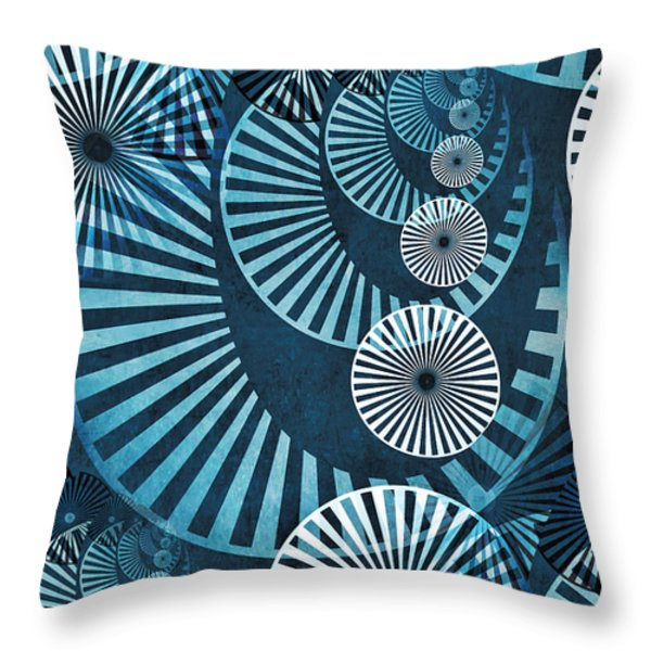 Wheel In The Sky 1 Throw Pillow by Angelina Vick