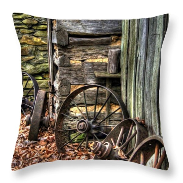 Wheels of Time Throw Pillow by Benanne Stiens