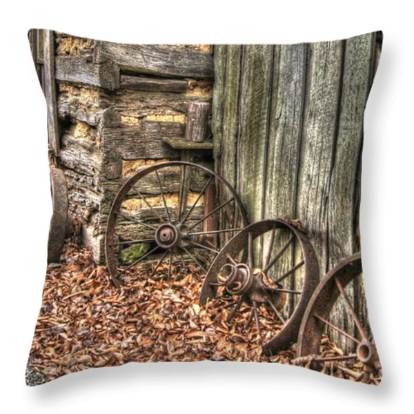 Wheels Of Time Two Throw Pillow by Benanne Stiens