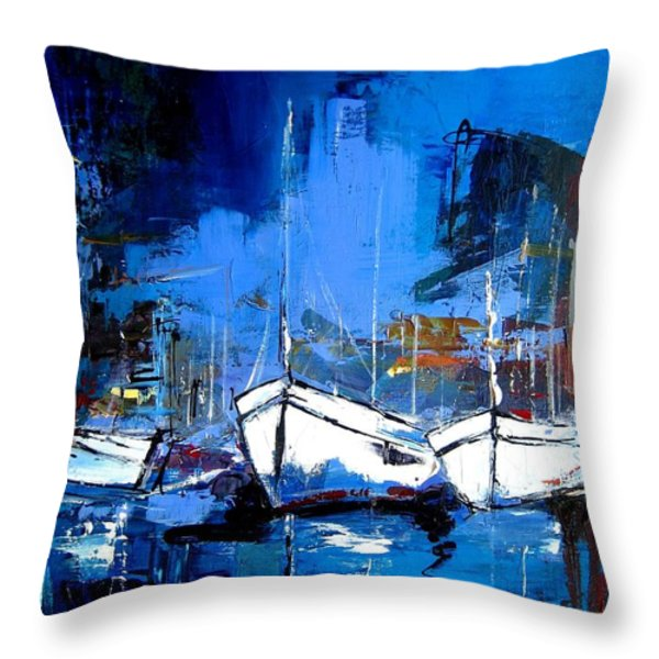 When Evening Comes Throw Pillow by Elise Palmigiani