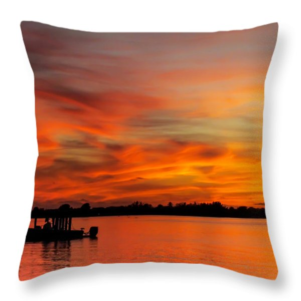 When God Paints Throw Pillow by Karen Wiles