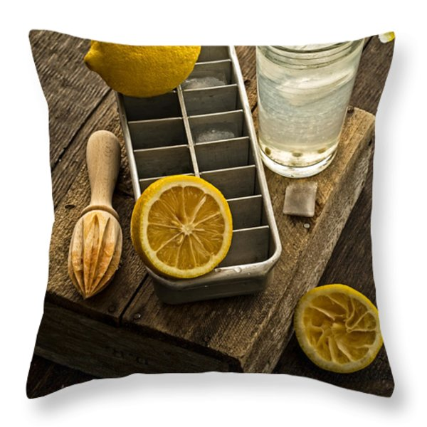 When Life Gives You Lemons... Throw Pillow by Edward Fielding