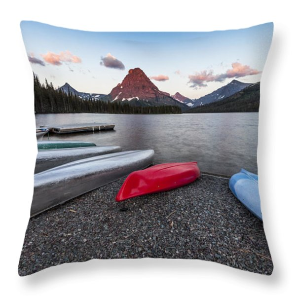 When we Row Throw Pillow by Jon Glaser