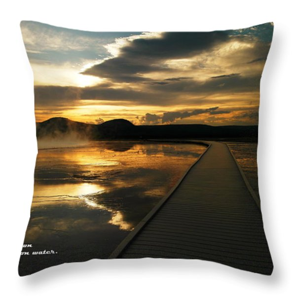 When You Believe Throw Pillow by Jeff  Swan