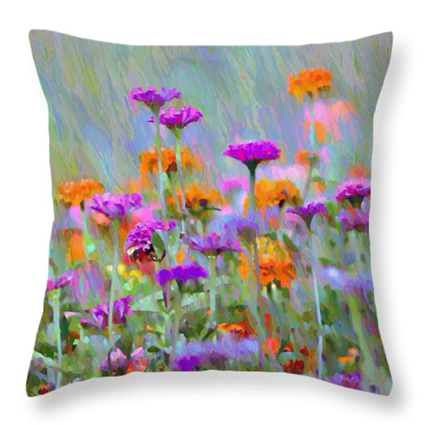 Where Have All the Flowers Gone Throw Pillow by Bill Cannon