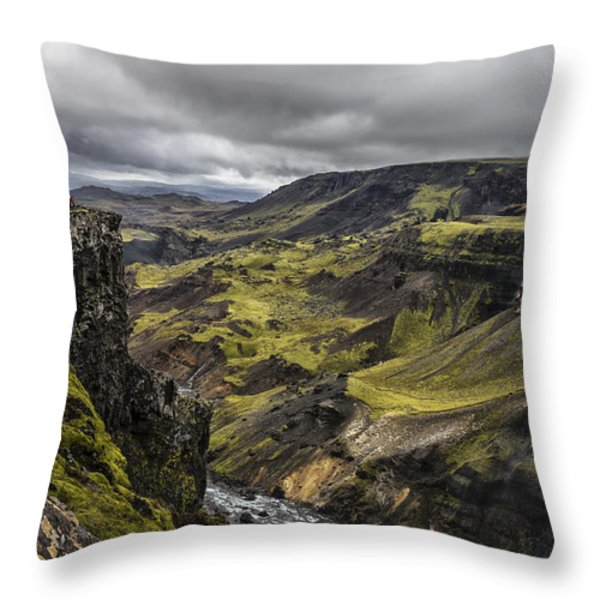 Where I Stand Throw Pillow by Jon Glaser