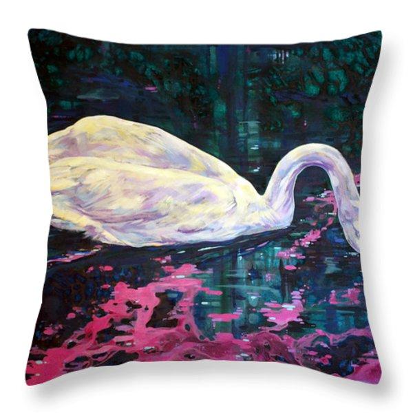 Where lilac fall Throw Pillow by Derrick Higgins