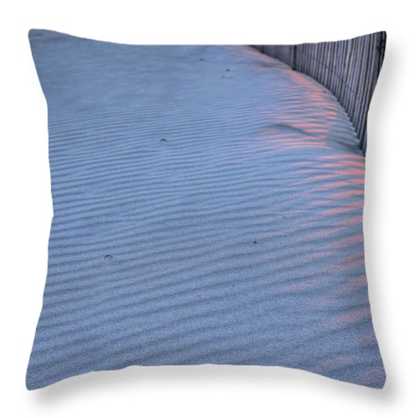 Where the Boardwalk Ends Throw Pillow by JC Findley