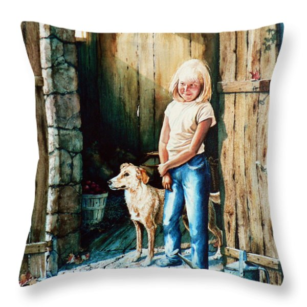 Where The Boys Are Throw Pillow by Hanne Lore Koehler
