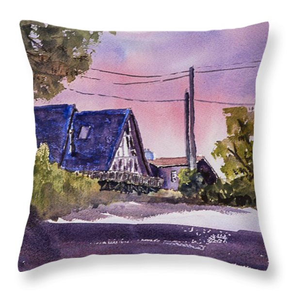 Whidbey Getaway Throw Pillow by Barry Jones