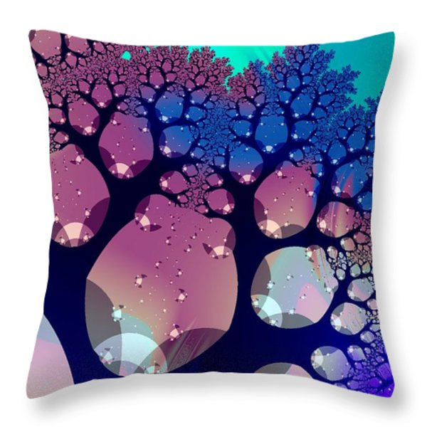 Whimsical Forest Throw Pillow by Anastasiya Malakhova