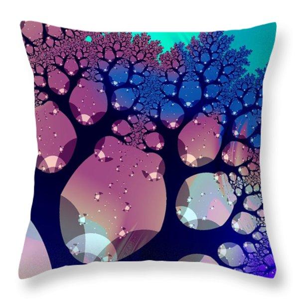 Whimsical Forest Throw Pillow by Anastasiya Malakhova