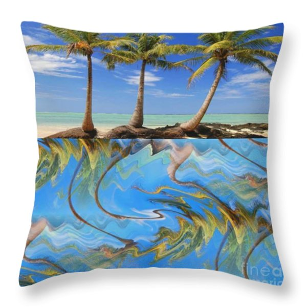 Whimsical Tropics Throw Pillow by PainterArtist FIN