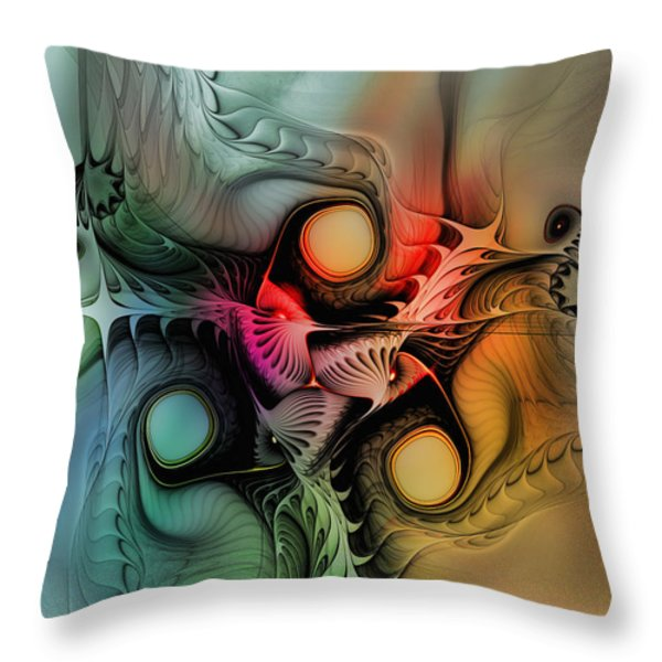 Whirlpool-Abstract Art Throw Pillow by Karin Kuhlmann