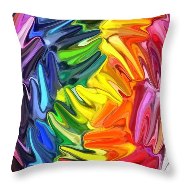 Whirlpool Throw Pillow by Chris Butler