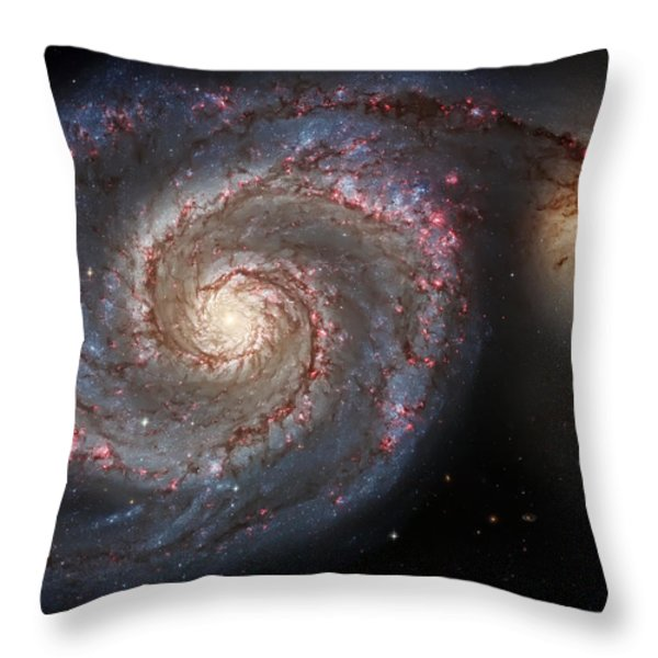 Whirlpool Galaxy 2 Throw Pillow by The  Vault - Jennifer Rondinelli Reilly