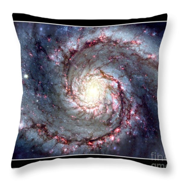 Whirlpool Galaxy Self Framed Throw Pillow by Rose Santuci-Sofranko