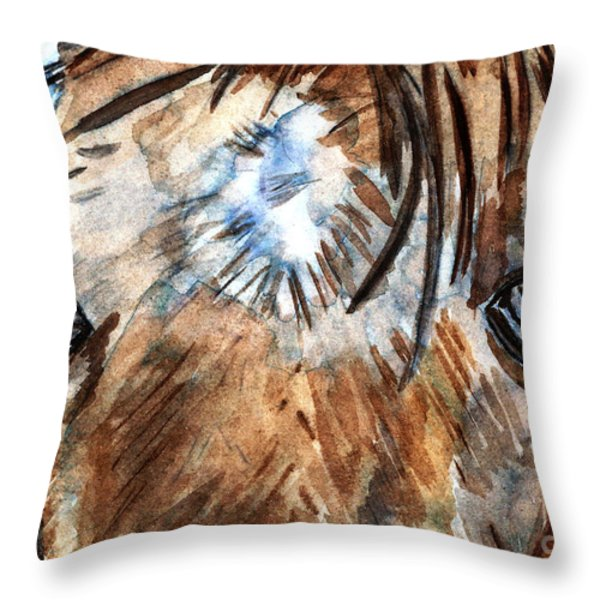 Whisper Throw Pillow by Elizabeth Briggs