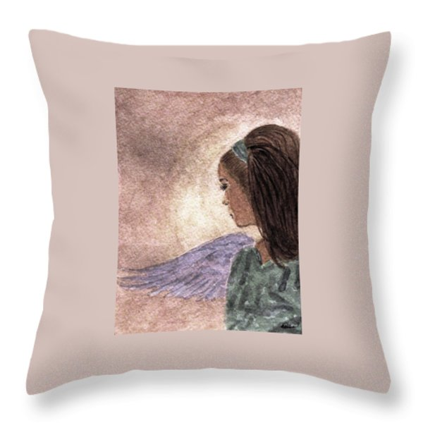 Whisper Of Wings Throw Pillow by Angela Davies