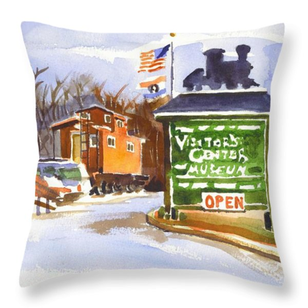 Whistle Junction in Ironton Missouri Throw Pillow by Kip DeVore