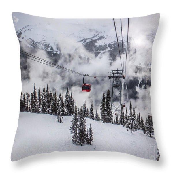 Whistler Blackcomb Weather Throw Pillow by Alanna DPhoto