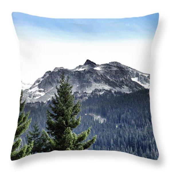Whistler Mountain Throw Pillow by Jim Nelson