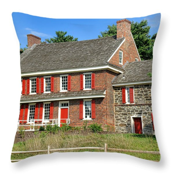 Whitall House Throw Pillow by Olivier Le Queinec