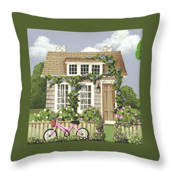 Whitby Cottage Throw Pillow by Catherine Holman