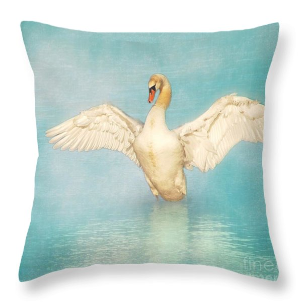 White Angel Throw Pillow by Hannes Cmarits