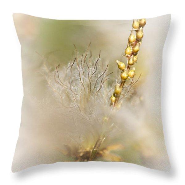 White Dryas Throw Pillow by Heiko Koehrer-Wagner