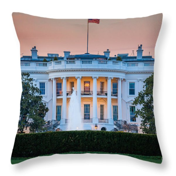 White House Throw Pillow by Inge Johnsson