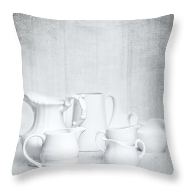 White Jugs Throw Pillow by Amanda And Christopher Elwell
