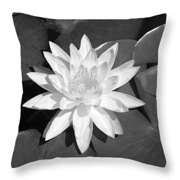 White Lotus 2 Throw Pillow by Ellen Henneke