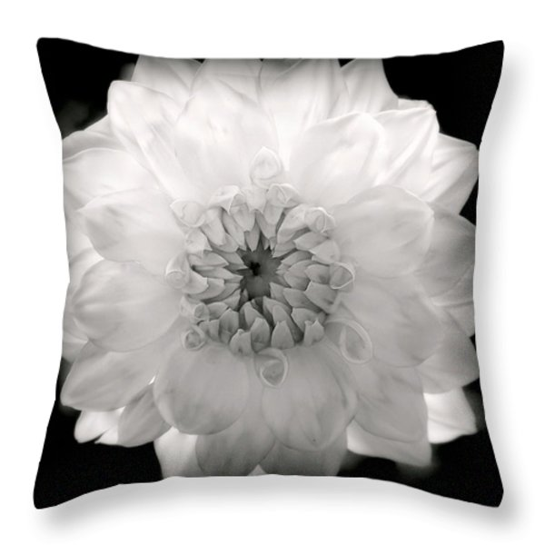 WHITE MAGIC Throw Pillow by KAREN WILES
